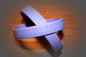 Thyroid Awareness bracelets and bands, Dear Thyroid