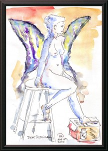 Win A Beautiful Water Color Drawing: <i>The Thyroid Queen</i>, By HD